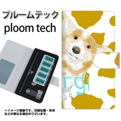 メール便送料無料 プルームテック ケース 手帳 ploomtech YJ027 コーギー アニマル柄