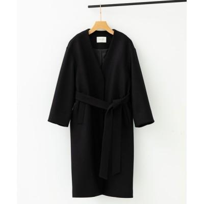 PUBLIC TOKYO / FAbRICAノーカラーガウンコート WOMEN ジャケット/アウター > テーラードジャケット