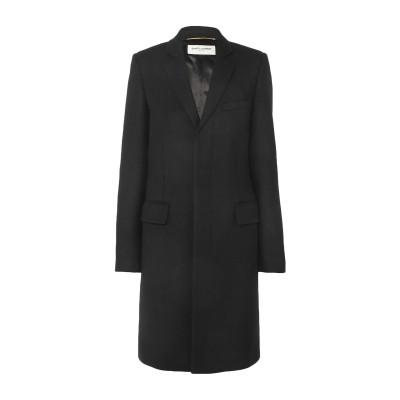SAINT LAURENT コート ブラック 42 ウール 100% コート