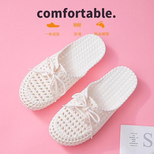 拖鞋女士外穿夏護士洞洞鞋ins潮網紅時尚懶人厚底包頭半拖女涼拖 歐歐