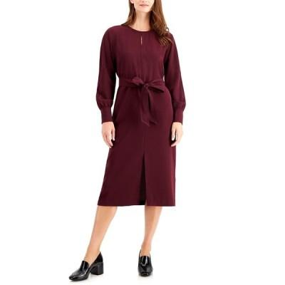 アルファニ ワンピース トップス レディース Long-Sleeve Tie-Waist Dress Berry Jam