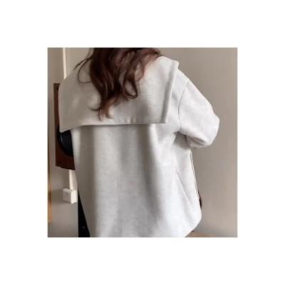 【送料無料】日系 カレッジ風 ルース 牛 角 バックル ネイビーカラー 手厚い 暖かい 小 個 息子 | 346770_A64027-4333667