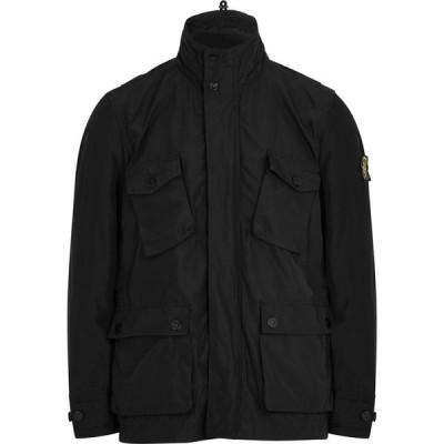 ストーンアイランド Stone Island メンズ ジャケット シェルジャケット アウター micro reps black shell jacket Black