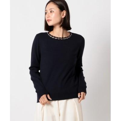 MEW'S REFINED CLOTHES / スカラップパールプルオーバー WOMEN トップス > ニット/セーター