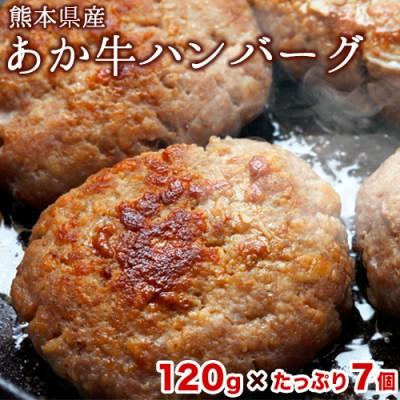 あか牛ハンバーグ たっぷり7個入り 《1月中旬-2月末頃より順次出荷》熊本県 玉名郡 玉東 あか牛 ハンバーグ
