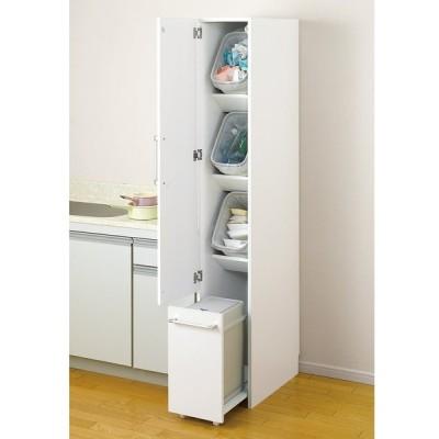 組立不要 キッチン分別タワーダストボックス 幅28.5cm スリム4分別 ゴミ箱タイプ LR0698