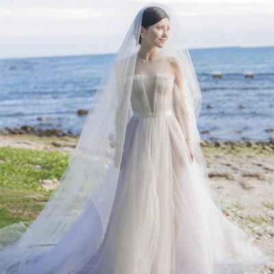 ウェディングドレス ウェディングドレス白 パーティードレス 簡約 花嫁ロングドレス 露背 結婚式 トレーンライン 二次会 エレガント お呼ばれ 挙式 姫系hs5279