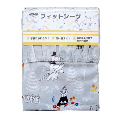 フィットシーツ「ムーミン」【日本製ベビー寝具】(ムーミン)