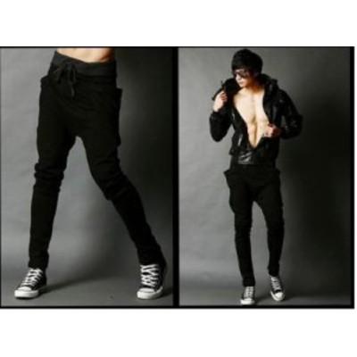 LAZA  超人気のジョガーパンツ ブラック 黒 Mサイズ 大きいサイズも スポーツにもかっこいい ジョギング スエットパンツ メンズ