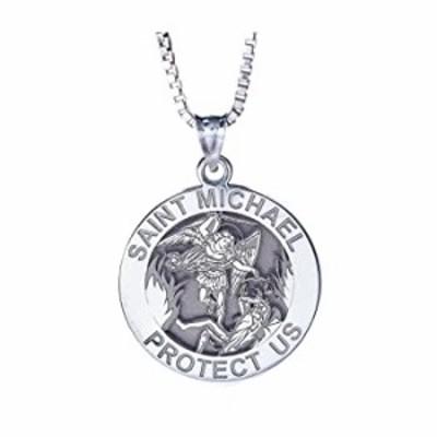 KOEDLN Saint Michael Pendant Necklace Archangel Catholic Medal Amulet Protect US Necklace for Women Men