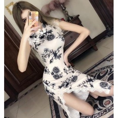 レディース パーティードレス レース タイトワンピース 夜店 セクシー 気質 エレガント 結婚式ドレス 中国風 ロング ワンピース