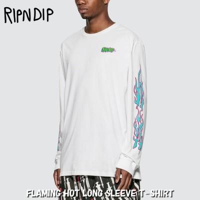 リップンディップ RIPNDIP Tシャツ ロンT FLAMING HOT LONG SLEEVE T-SHIRT ホワイト 長袖 トップス スケーター ストリート メンズ レディース Rip N Dip[衣類]