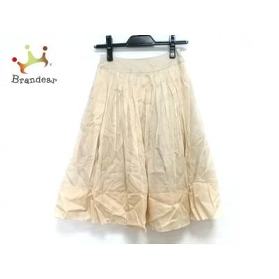フォクシー FOXEY スカート レディース 美品 コットンオーガンジースカート 23771 ベージュ 新着 20200805
