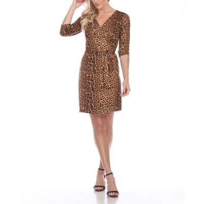 ホワイトマーク ワンピース トップス レディース Women's Mariah Wrap Dress Brown