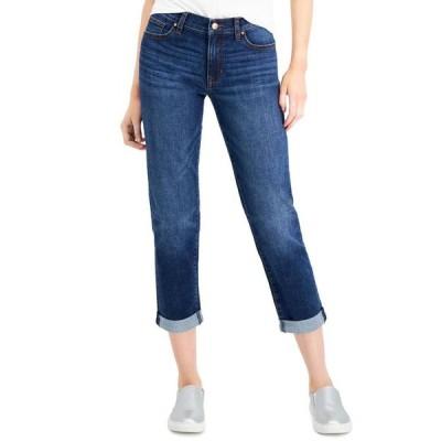 セレブリティピンク レディース デニムパンツ ボトムス Juniors' Cuffed Girlfriend Jeans