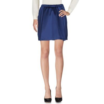 メルシー ..,MERCI ひざ丈スカート ダークブルー 44 ポリエステル 100% ひざ丈スカート