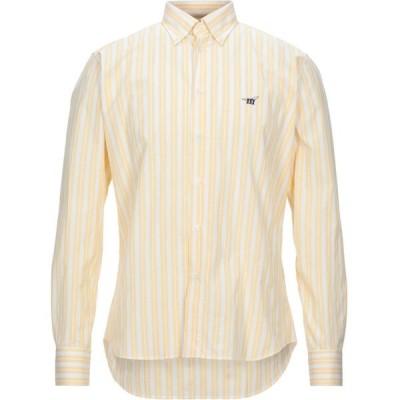ヘンリーコットンズ HENRY COTTON'S メンズ シャツ トップス striped shirt Yellow