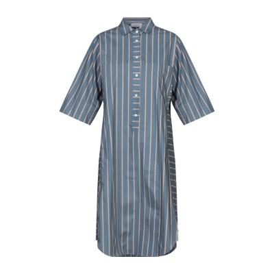 ROSSO35 ミニワンピース&ドレス ブルーグレー 44 コットン 100% ミニワンピース&ドレス