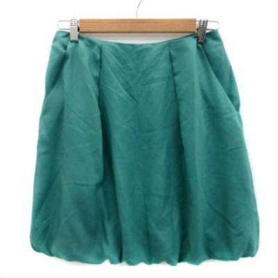 【中古】クチュールブローチ COUTURE BROOCH スカート バルーン ミニ丈 無地 40 緑 グリーン /YS23 レディース