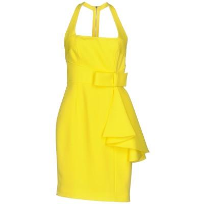 MANGANO ミニワンピース&ドレス イエロー 40 ポリエステル 88% / ポリウレタン 12% ミニワンピース&ドレス