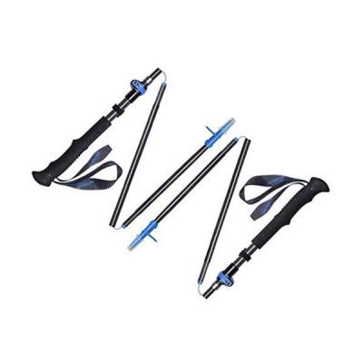 全国送料無料!ECHOV Trekking Poles Ultralight Carbon Fiber Trekking Pole Outdoor Off-Road Walking Stick Folding Outer Lock Walking St