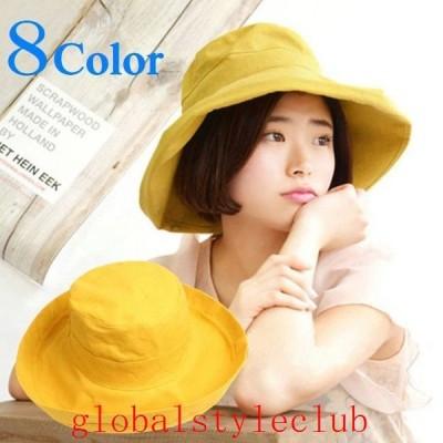 帽子ハットつば広帽折り畳みレディースツバ広帽あご紐付き日焼け予防日焼け防止紫外線対策UV対策日よけ日除け折畳みカジュアル