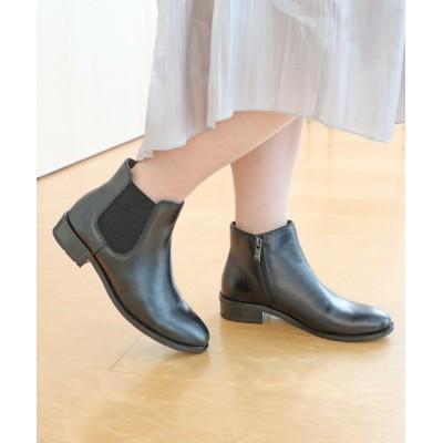 MODE KAORI / サイドゴアショートブーツ WOMEN シューズ > ブーツ