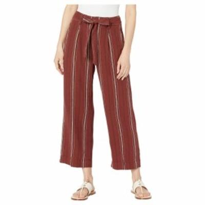 サンクチュアリ Sanctuary レディース クロップド ボトムス・パンツ inland sashed crop linen pants Henna Multi Stripe