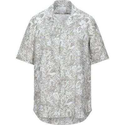 マッシモ ラ ポルタ MASSIMO LA PORTA メンズ シャツ トップス linen shirt Light grey