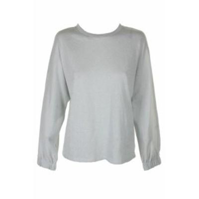 Michael Kors マイケルコルス ファッション トップス Michael Michael Kors Silver Metallic Dolman-Sleeve Blouson Shimmer Sweatshirt