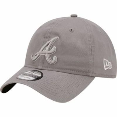 ニューエラ New Era メンズ キャップ 帽子 Atlanta Braves Grey Core Classic 9Twenty Adjustable Hat