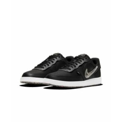 ナイキ メンズ スニーカー シューズ Men's Court Vision Low Premium Casual Sneakers from Finish Line Black