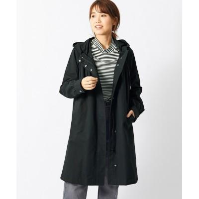 【大きいサイズ】 綿100%ギャザー使いロング丈マウンテンパーカー(オトナスマイル) コート, plus size coat