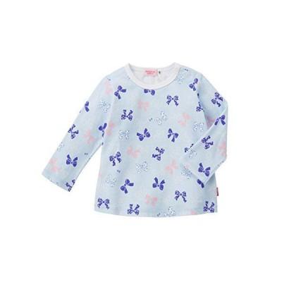 ミキハウス ホットビスケッツ (MIKIHOUSE HOT BISCUITS) 女児 長袖Tシャツ 73-5202-263 70cm ブルー