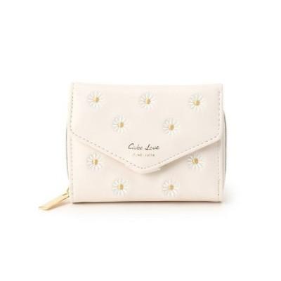 PINK-latte/ピンク ラテ マーガレット刺繍三つ折り財布 オフホワイト(003) 00