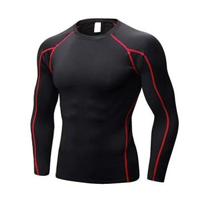 Nesseo コンプレッション ウェア メンズ トップス アンダー シャツ パワーストレッチ 長袖 スポーツ 吸汗速乾 UVカット blk・