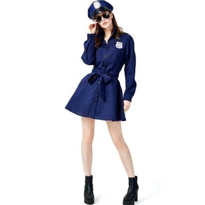 コスプレ ハロウィン ポリス コスプレ衣装 セクシー 制服 衣装 ミニスカポリス 警官 警察 女性 コスチューム エロい ワンピース 大人 コス ミニスカート 仮装…