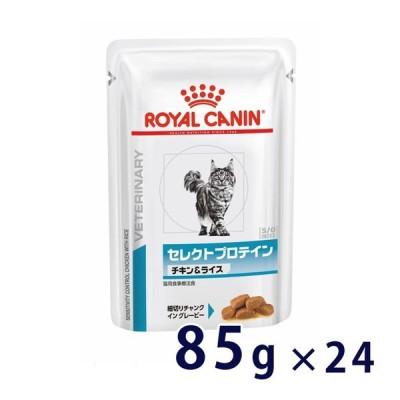 C:ロイヤルカナン 猫用 セレクトプロテイン (チキン&ライス) ウェット パウチ 85g×24 療法食 賞味期限:2022/08/12以降(03月現在)