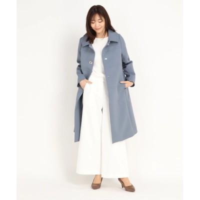 STRAWBERRY-FIELDS / トリプルクロス 襟取り外し可能 ステンカラーコート WOMEN ジャケット/アウター > ステンカラーコート