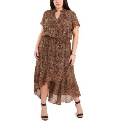 ワンステイト レディース ワンピース トップス Trendy Plus Size Printed High-Low Dress