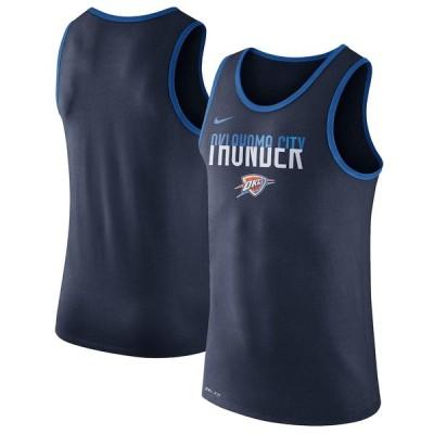 """ナイキ メンズ Tシャツ """"Oklahoma City Thunder"""" Nike Logo Performance Tank Top - Navy"""