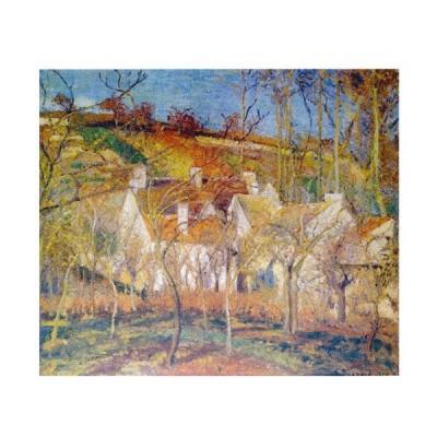 絵画 壁掛け アートフレーム付き 額装絵画 額縁付き絵画 カミーユ・ピサロ 「赤い屋根」 F8号 世界の名画シリーズ プリハード