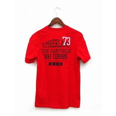 ティンバーランド Timberland 国内正規 Tシャツ 半袖 丸首 バックロゴ プリント ワンポイント XS メンズ 【中古】【ベクトル 古着】