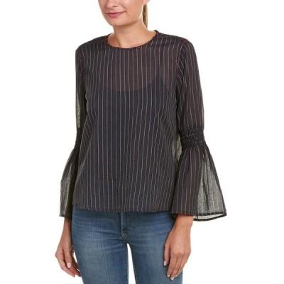 レディース 衣類 トップス Velvet By Graham & Spencer womens Chan Striped Bell Sleeve Blouse ブラウス&シャツ