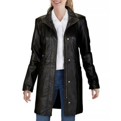 コールハーン レディース ジャケット・ブルゾン アウター Leather Jacket
