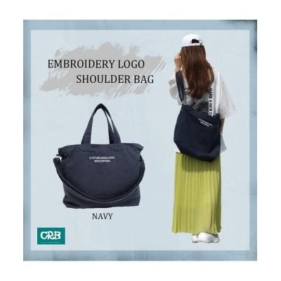 (CRB/シーアールビー)刺繍ロゴ2wayトートバッグ/レディース/ファッション/バッグ/鞄/かばん/雑貨/BAG/ショルダーバッグ/トートバッグ/合わせやすい/カジュアル/ナチュラル//レディース ネイビー