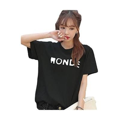SUNNUY レディース ファッション 春 トップス Tシャツ 半袖 おおきいサイズ かわいい プリント 白 薄手 きれいめ