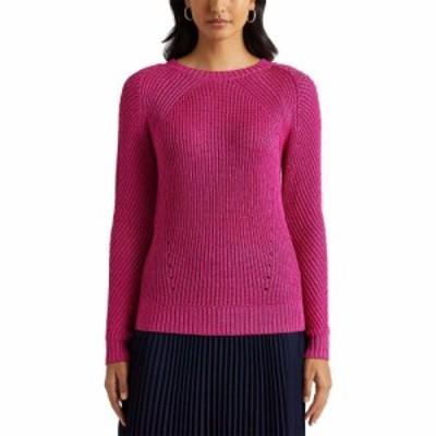 ラルフ ローレン LAUREN Ralph Lauren レディース ニット・セーター トップス Linen-Blend Crew Neck Sweater Nouveau Bright Pink
