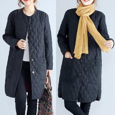 キルティングコート キルティング ジャケット キルティング キルティング コート ロング ミディアム カジュアル 軽い 暖かい ゆったり