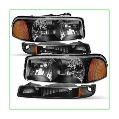 ヘッドライト交換用 99-02 GMC Sierra Pickup & 00-06 Yukon 1500/ Yukon XL 2500 工場スタイル 耐候性 ヘッドランプ アセ